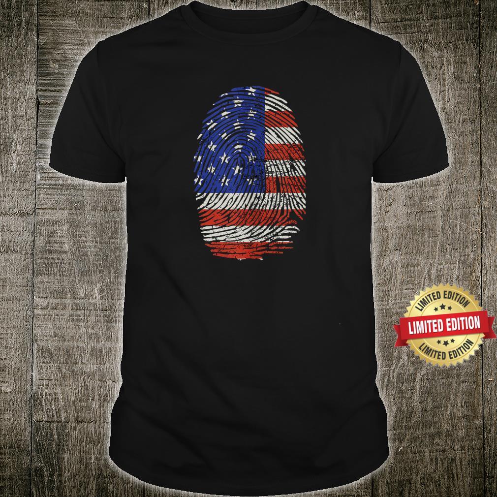 4th of July Fingerprint American Flag Shirt