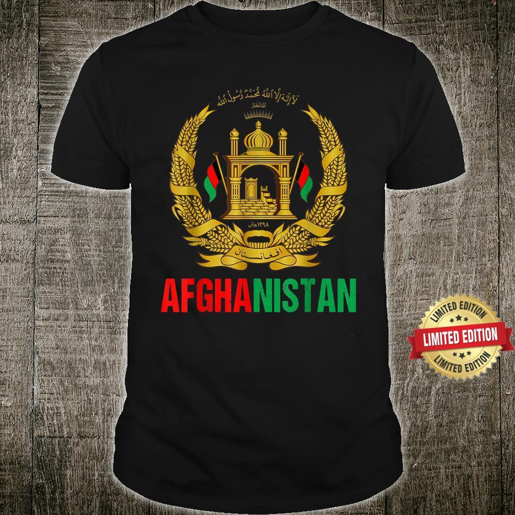 Afghanistan Flag Free Afghanistan Afghan Flag Emblem Shirt