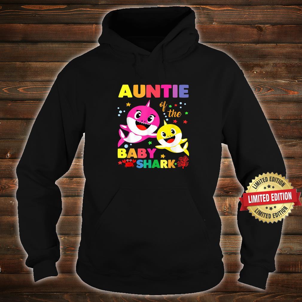 Auntie Of The Baby Shark Birthday Auntie Shark Shirt hoodie