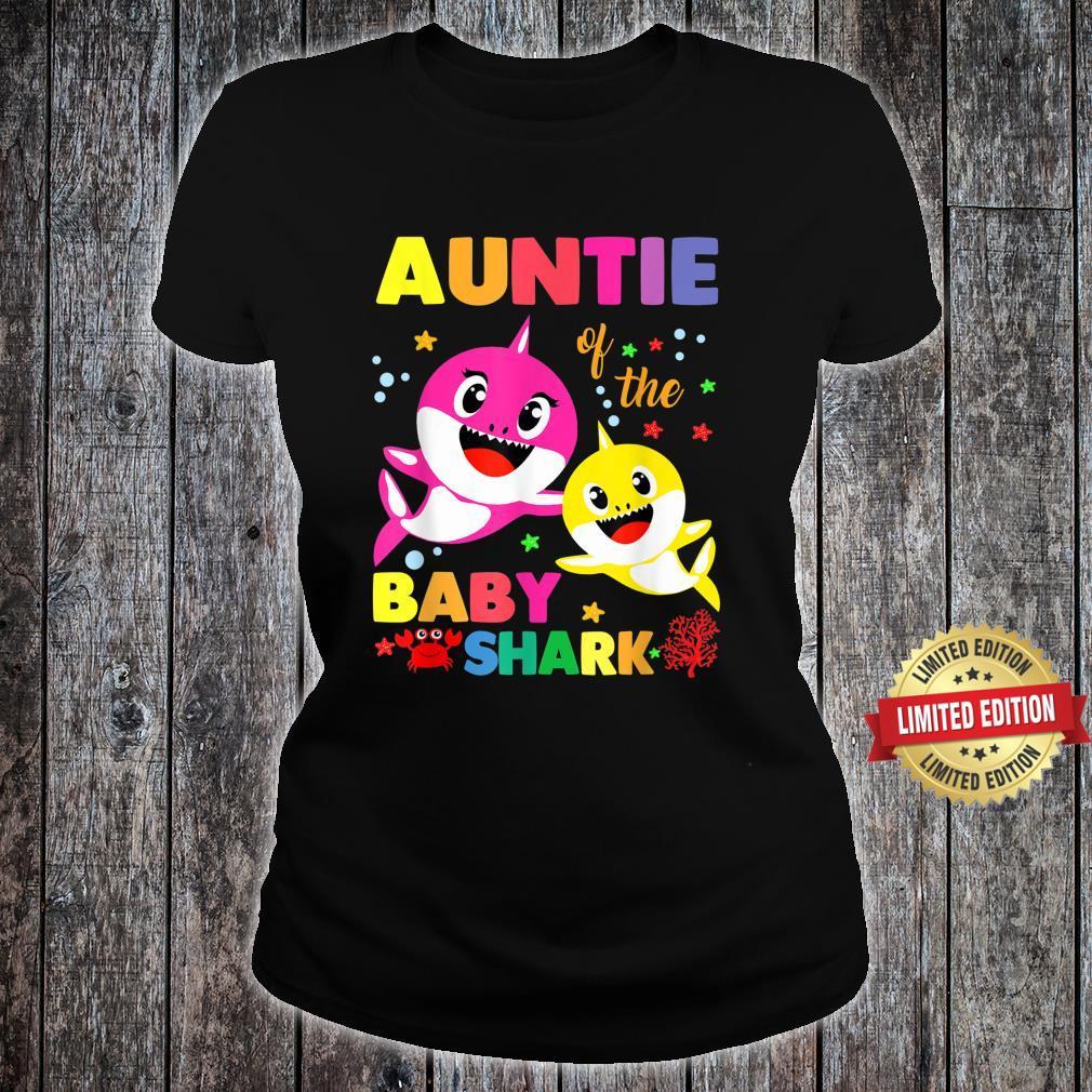 Auntie Of The Baby Shark Birthday Auntie Shark Shirt ladies tee