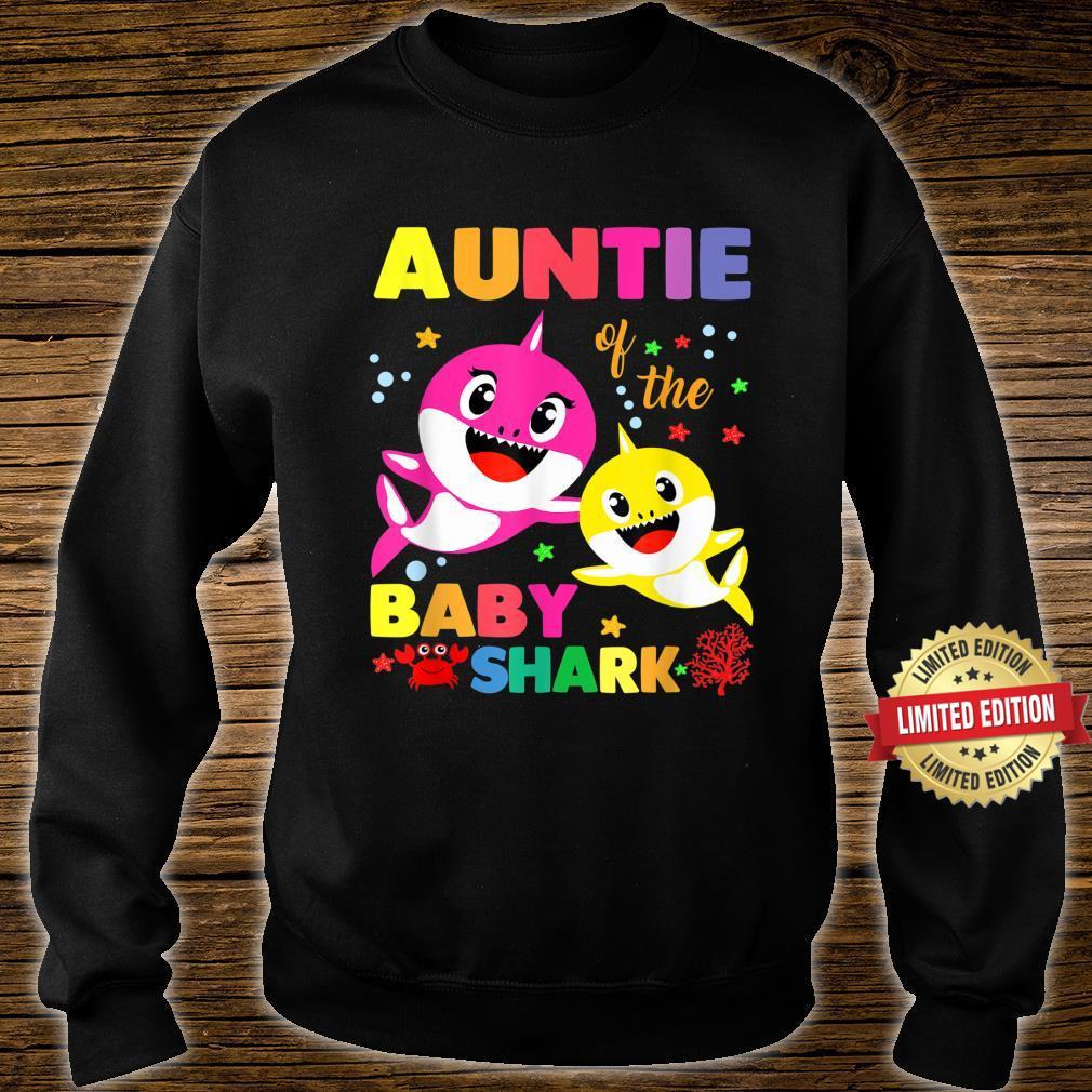 Auntie Of The Baby Shark Birthday Auntie Shark Shirt sweater