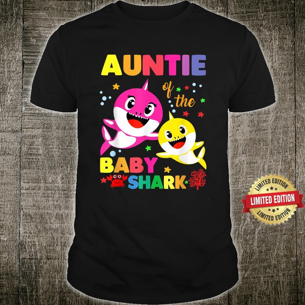 Auntie Of The Baby Shark Birthday Auntie Shark Shirt