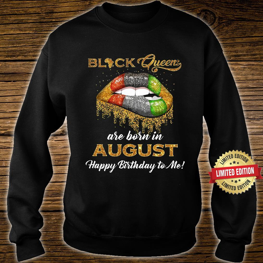 Black queen are born in August Shirt sweater