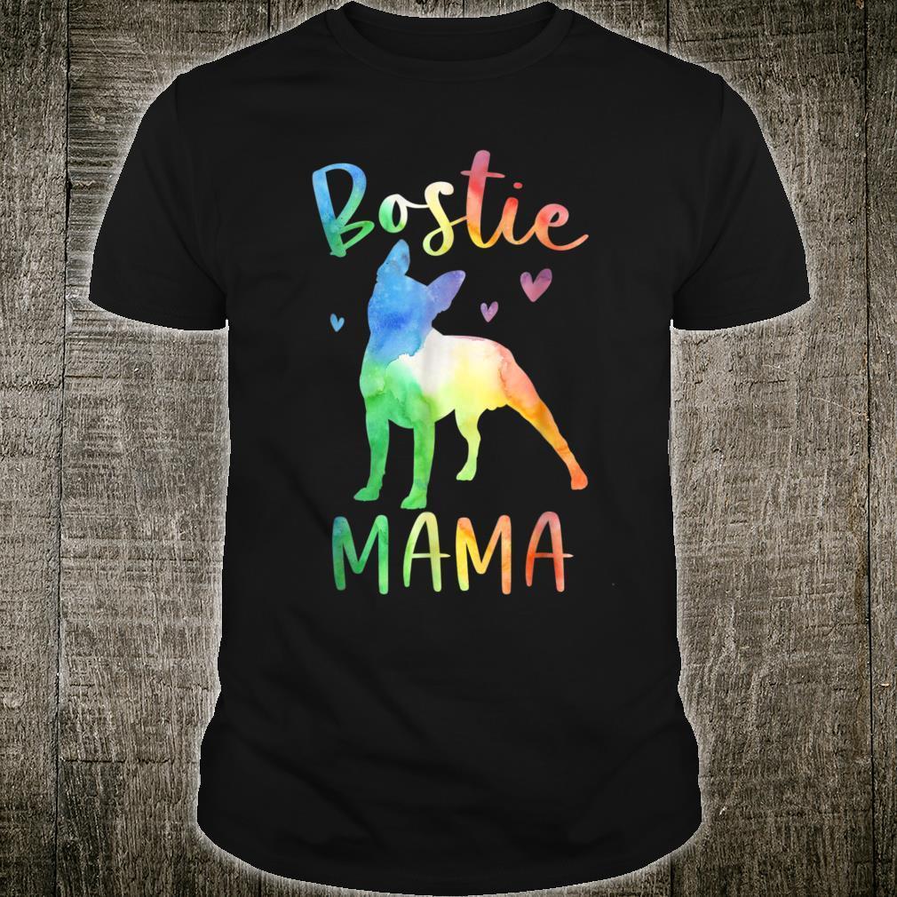 Bostie Mama Colorful Boston Terrier Dog Mom Shirt