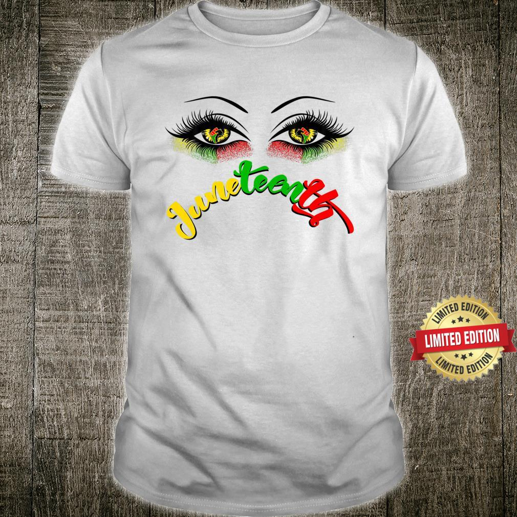 Bright Eyes Juneteenth African American Eye Black Flag 1865 Shirt