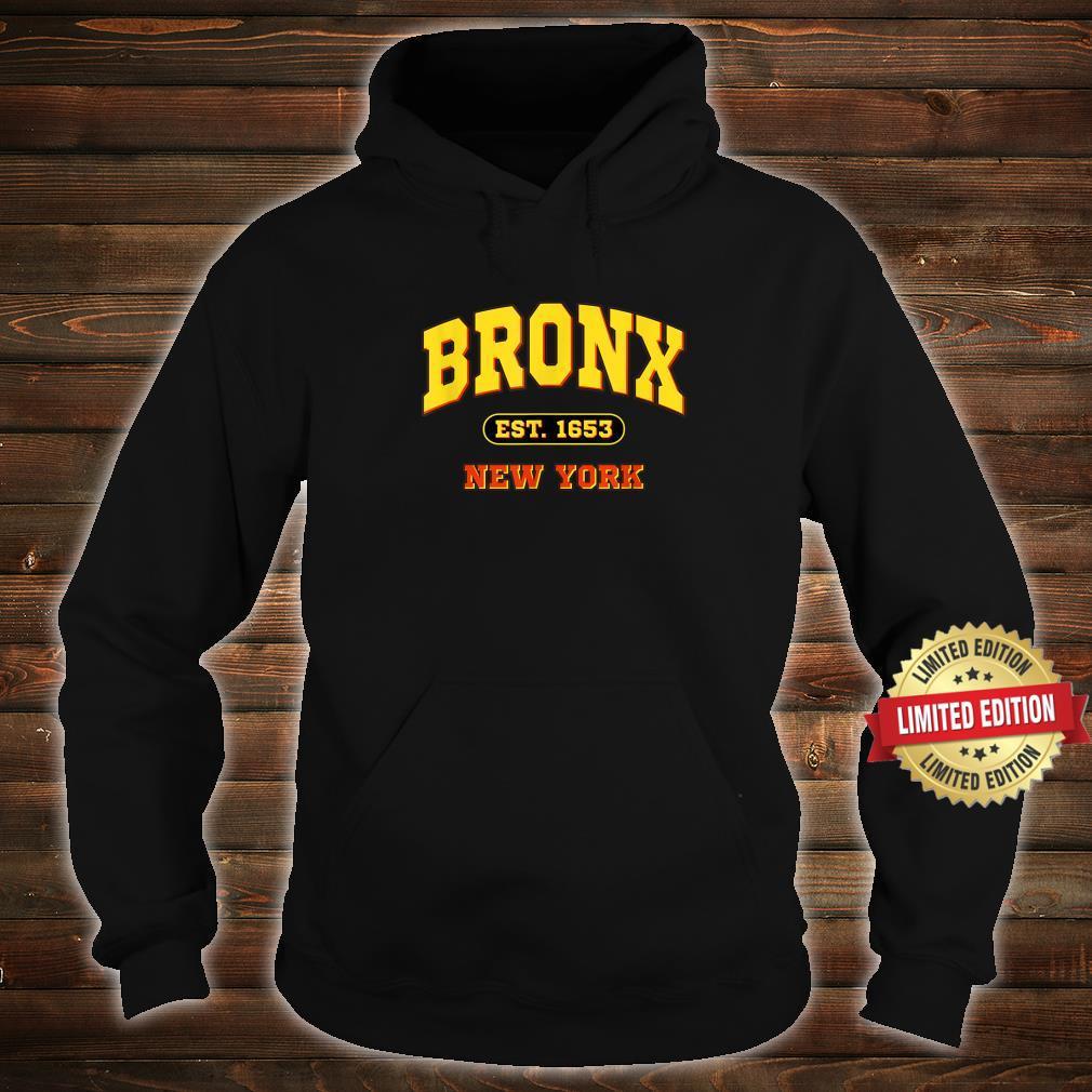Bronx New York NY Vintage Established Sports Shirt hoodie