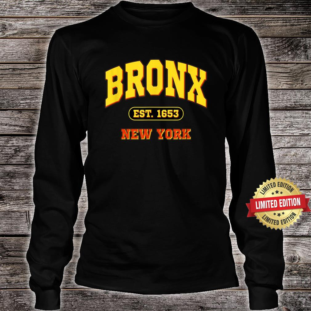 Bronx New York NY Vintage Established Sports Shirt long sleeved