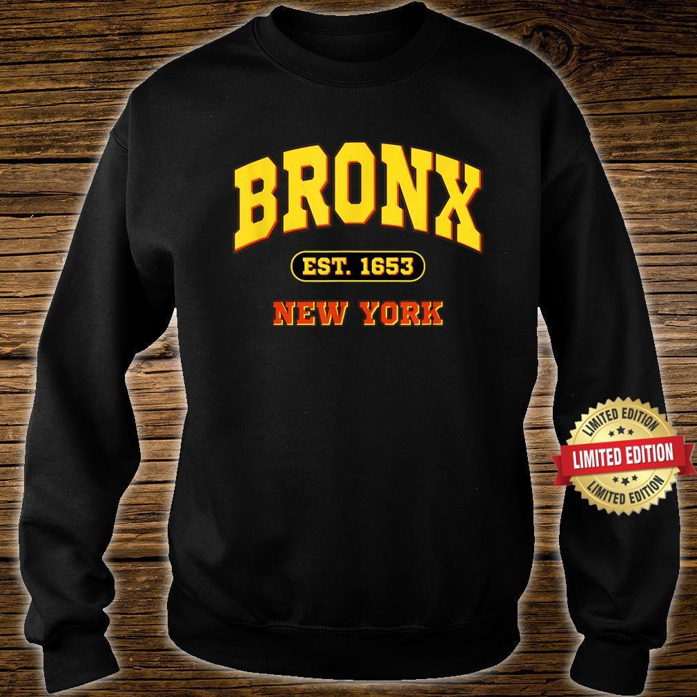 Bronx New York NY Vintage Established Sports Shirt sweater