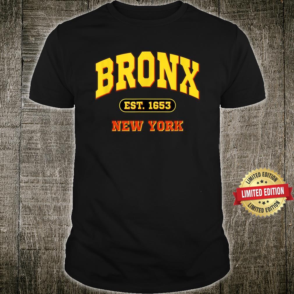 Bronx New York NY Vintage Established Sports Shirt