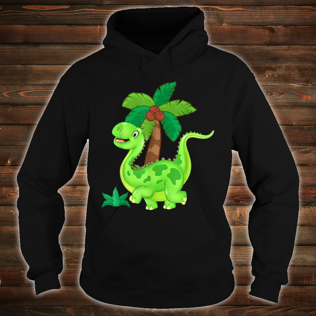 CUTE AND HAPPY GREEN CARTOON DINOSAUR Shirt hoodie