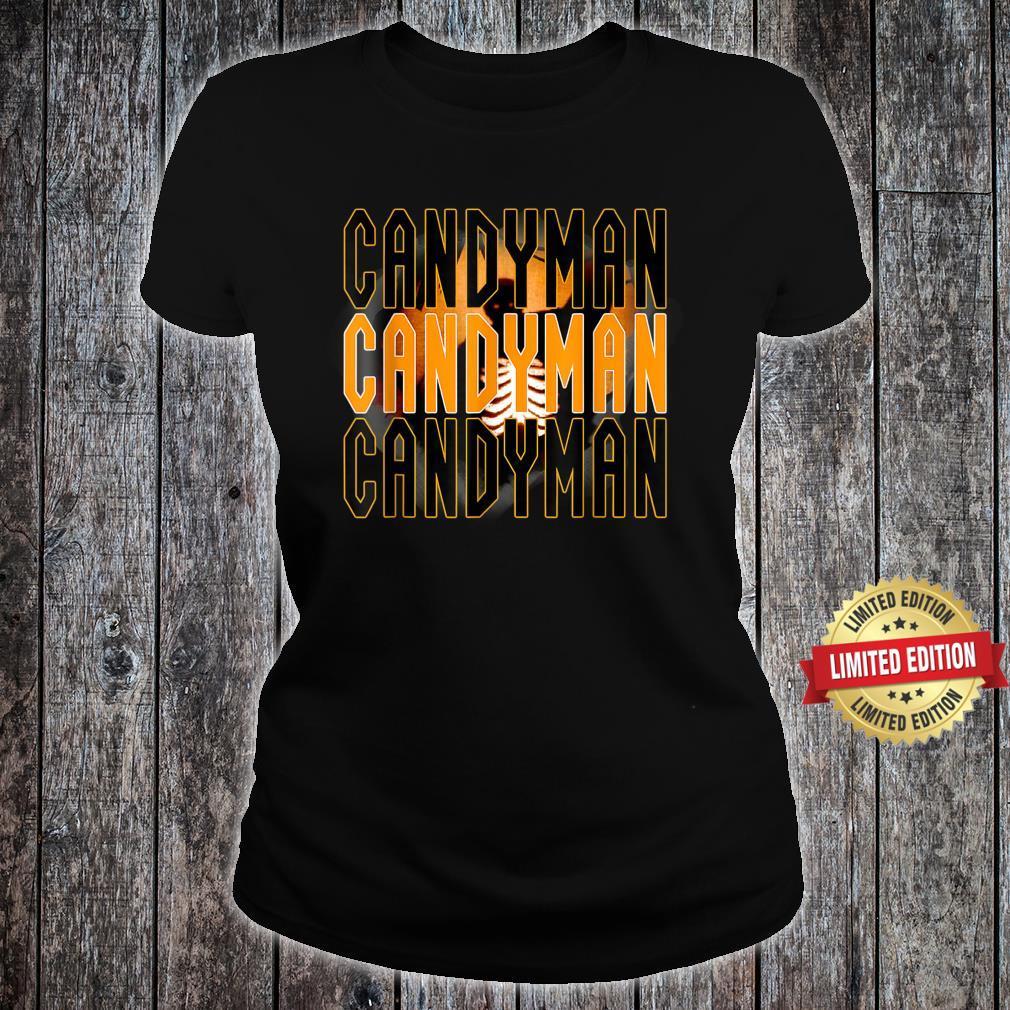 Candy.man Movie, Creepy Secret Halloween Party Yellow Shirt ladies tee