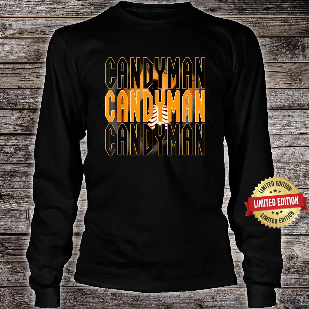 Candy.man Movie, Creepy Secret Halloween Party Yellow Shirt long sleeved