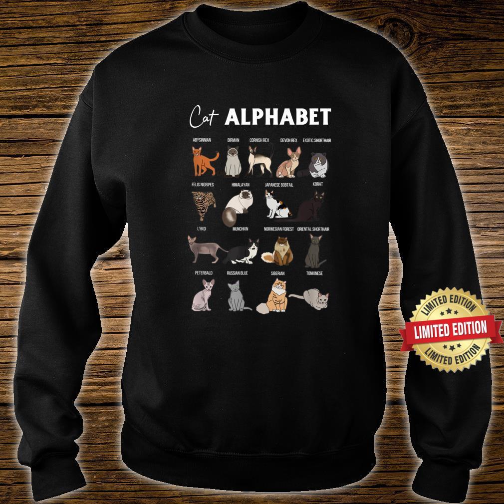 Cat Alphabet Cute Cat Breed Design Unisex Cat Shirt sweater
