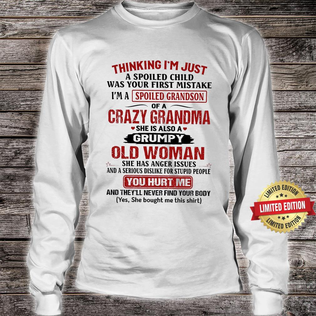 Cazy Grandma She Is Also A Grumpy Old Man Shirt long sleeved
