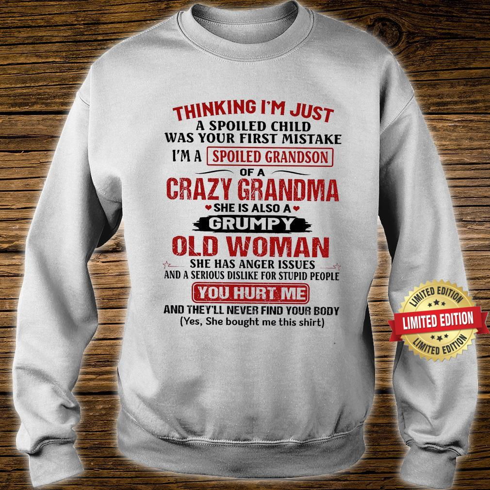 Cazy Grandma She Is Also A Grumpy Old Man Shirt sweater