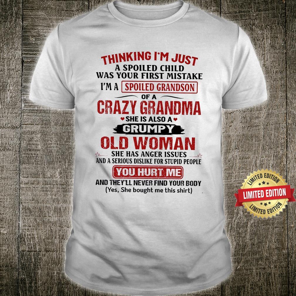 Cazy Grandma She Is Also A Grumpy Old Man Shirt