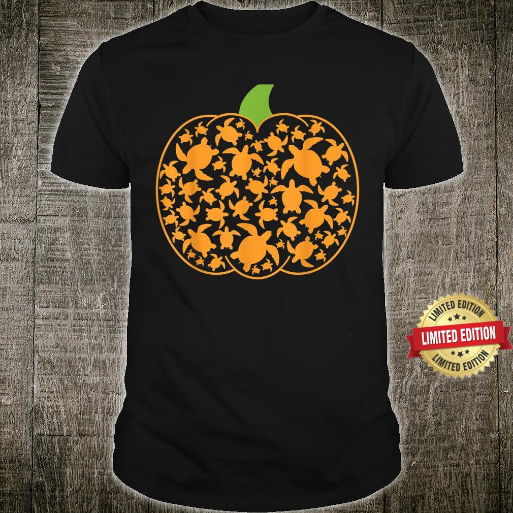 Halloween Shirt Pumpkin Turtle Sea Halloween Costume Shirt