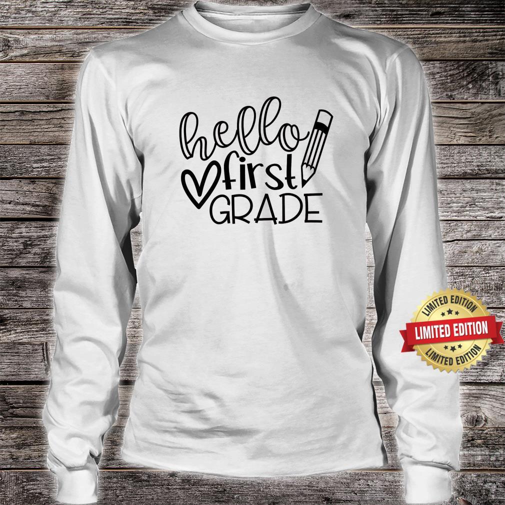 Hello First Grade Shirt, Back to School Shirt, Teacher Shirt long sleeved