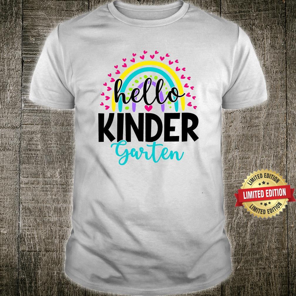 Hello Kindergarten Shirts,Teach Love Inspire Shirt