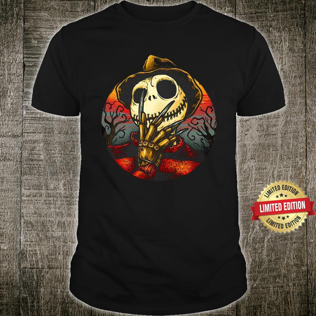 Jack Skellington Freddy Nightmare Halloween Shirt