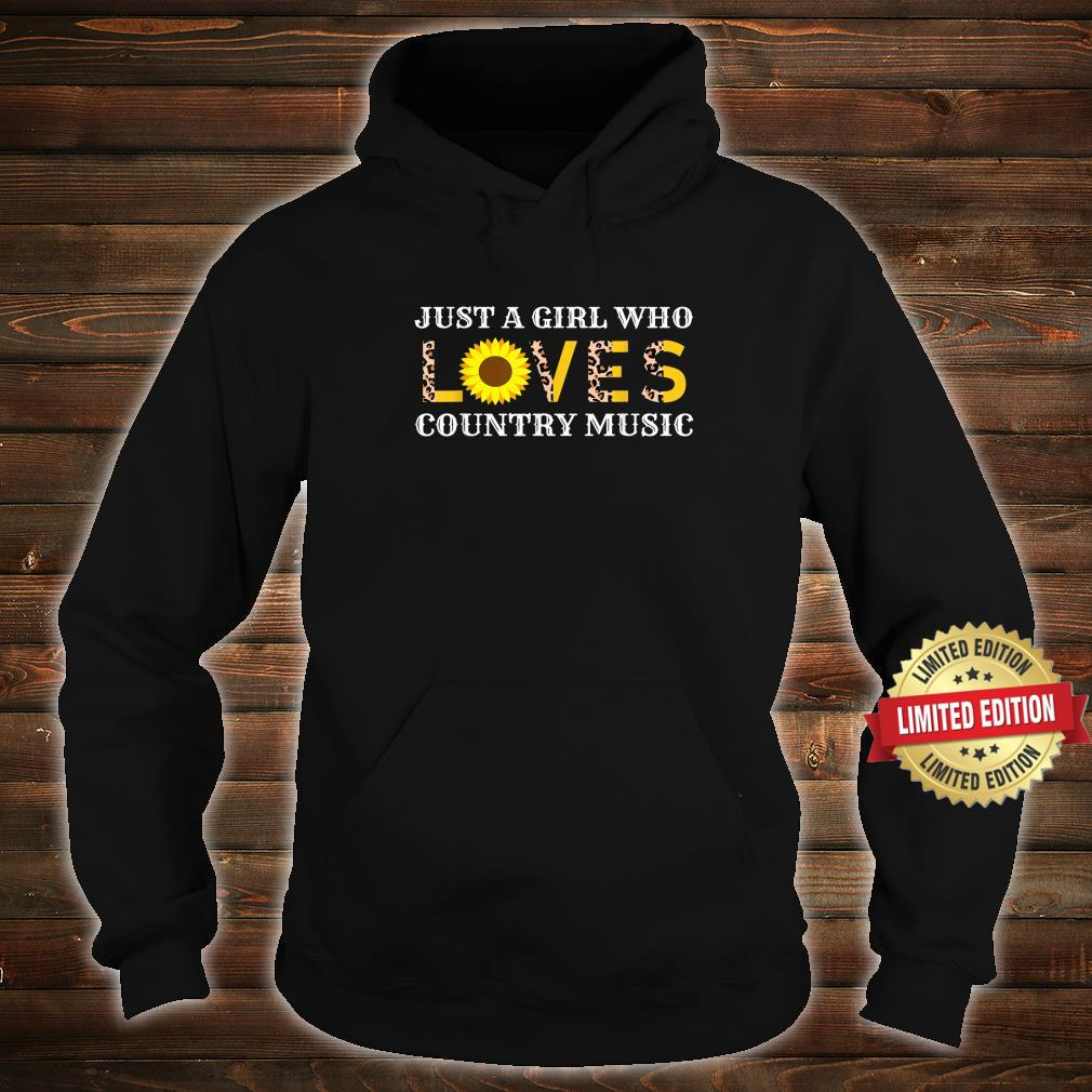 Just A Girl Who Loves Country Music Leopard Sunflower Shirt hoodie