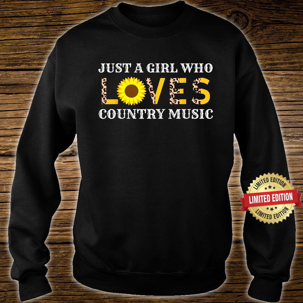 Just A Girl Who Loves Country Music Leopard Sunflower Shirt sweater