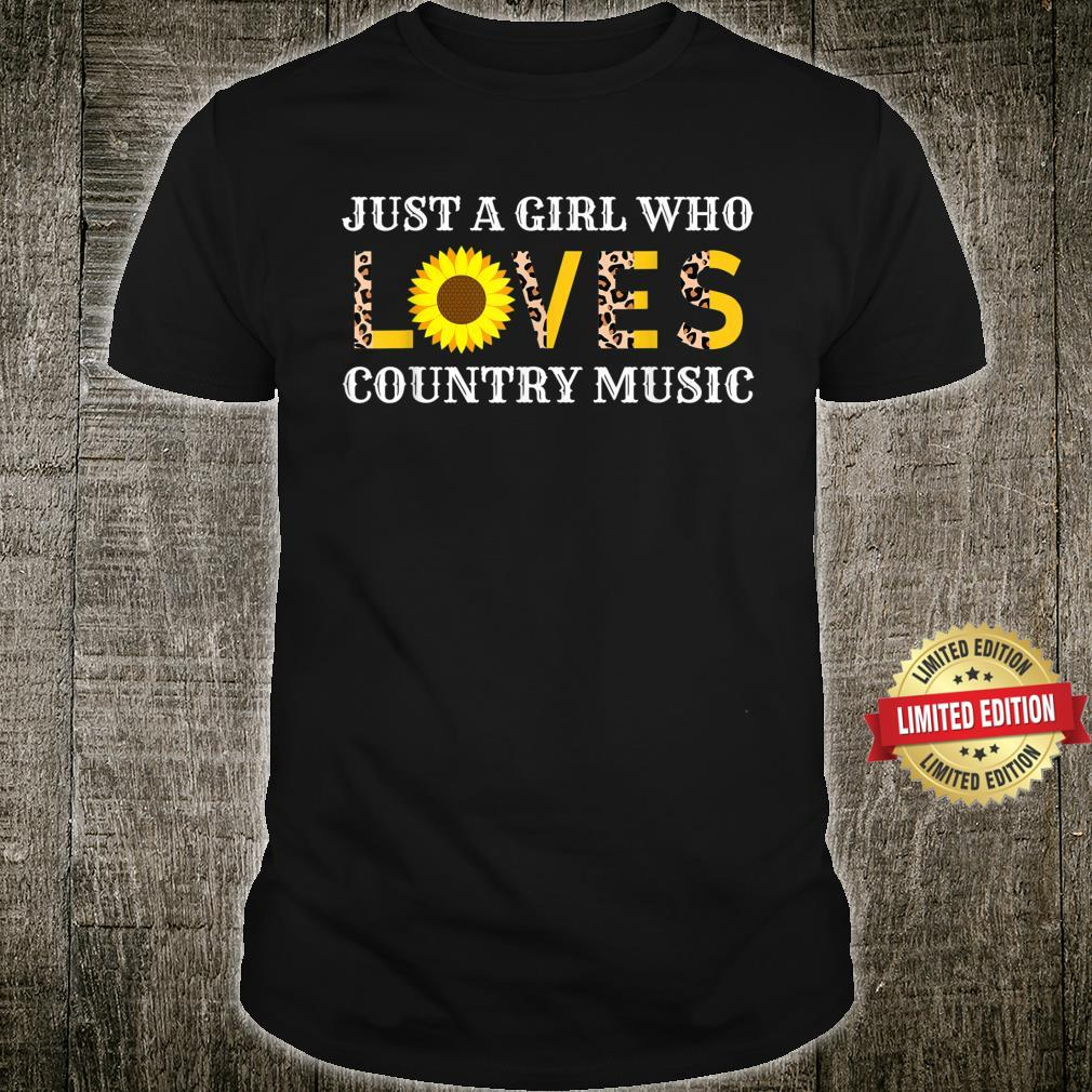 Just A Girl Who Loves Country Music Leopard Sunflower Shirt