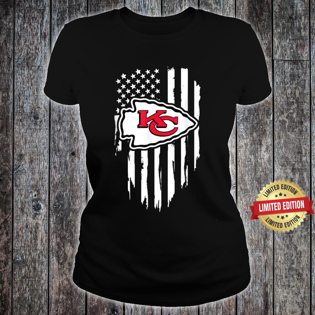 Kansas City Jersey Football Shirt Chief Flag Usa Shirt ladies tee