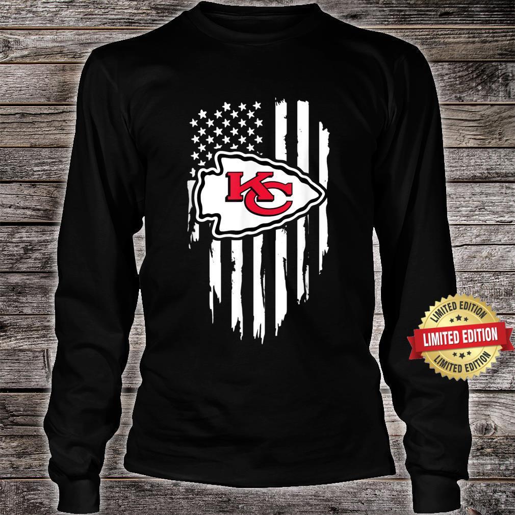 Kansas City Jersey Football Shirt Chief Flag Usa Shirt long sleeved