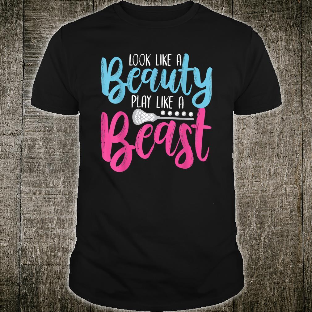 Look Like A Beauty Play Like A Beast Shirt