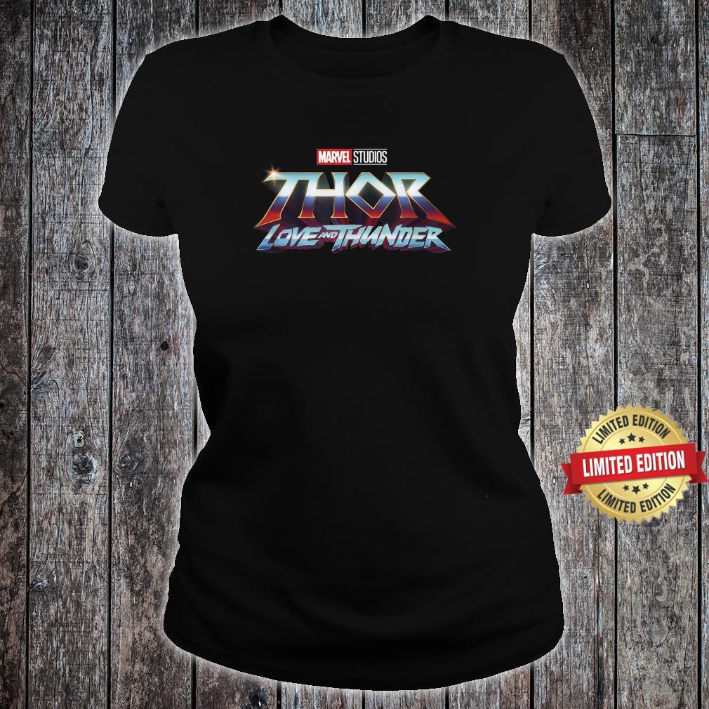Marvel Thor Love And Thunder Logo Shirt ladies tee