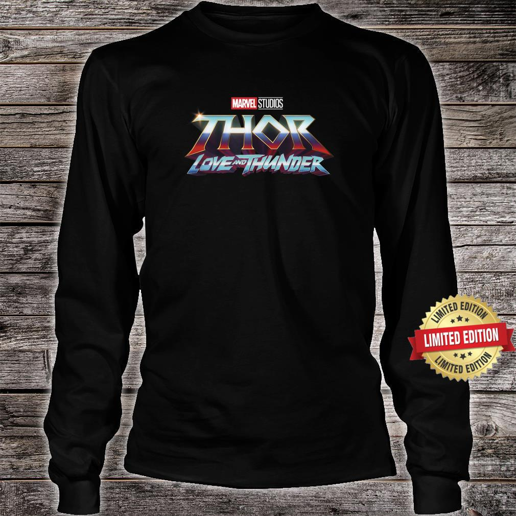 Marvel Thor Love And Thunder Logo Shirt long sleeved
