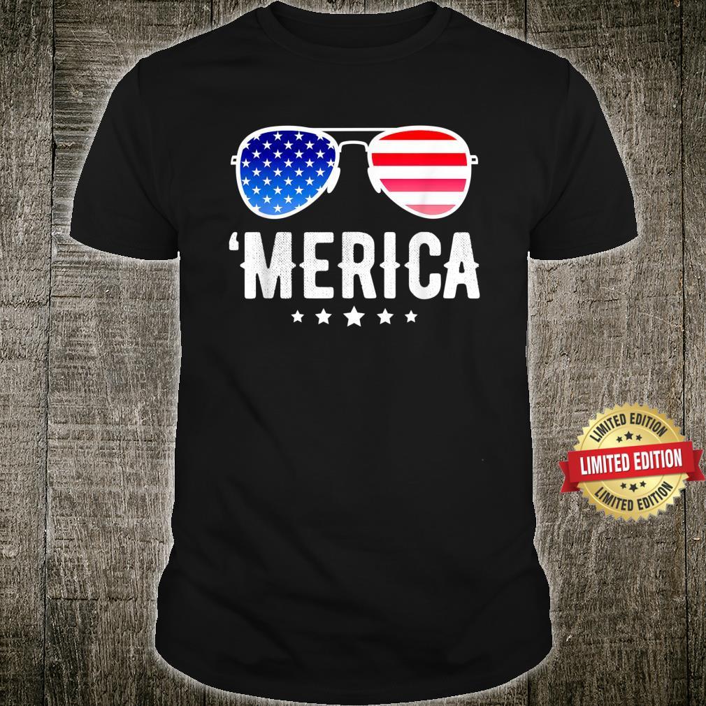 'Merica 4th of July Humor USA Patriotic Vintage Shirt