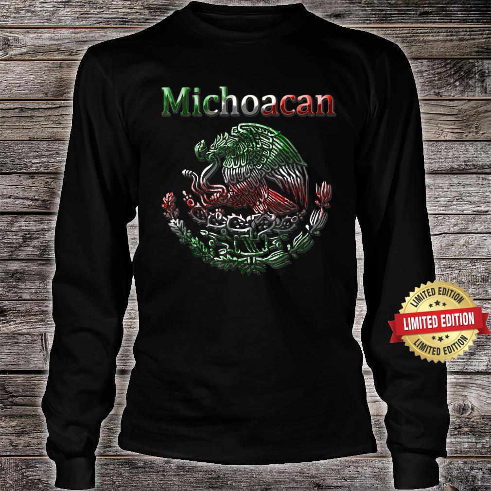 Michoacan Morelia Mexican colt flag Mexico Shirt long sleeved