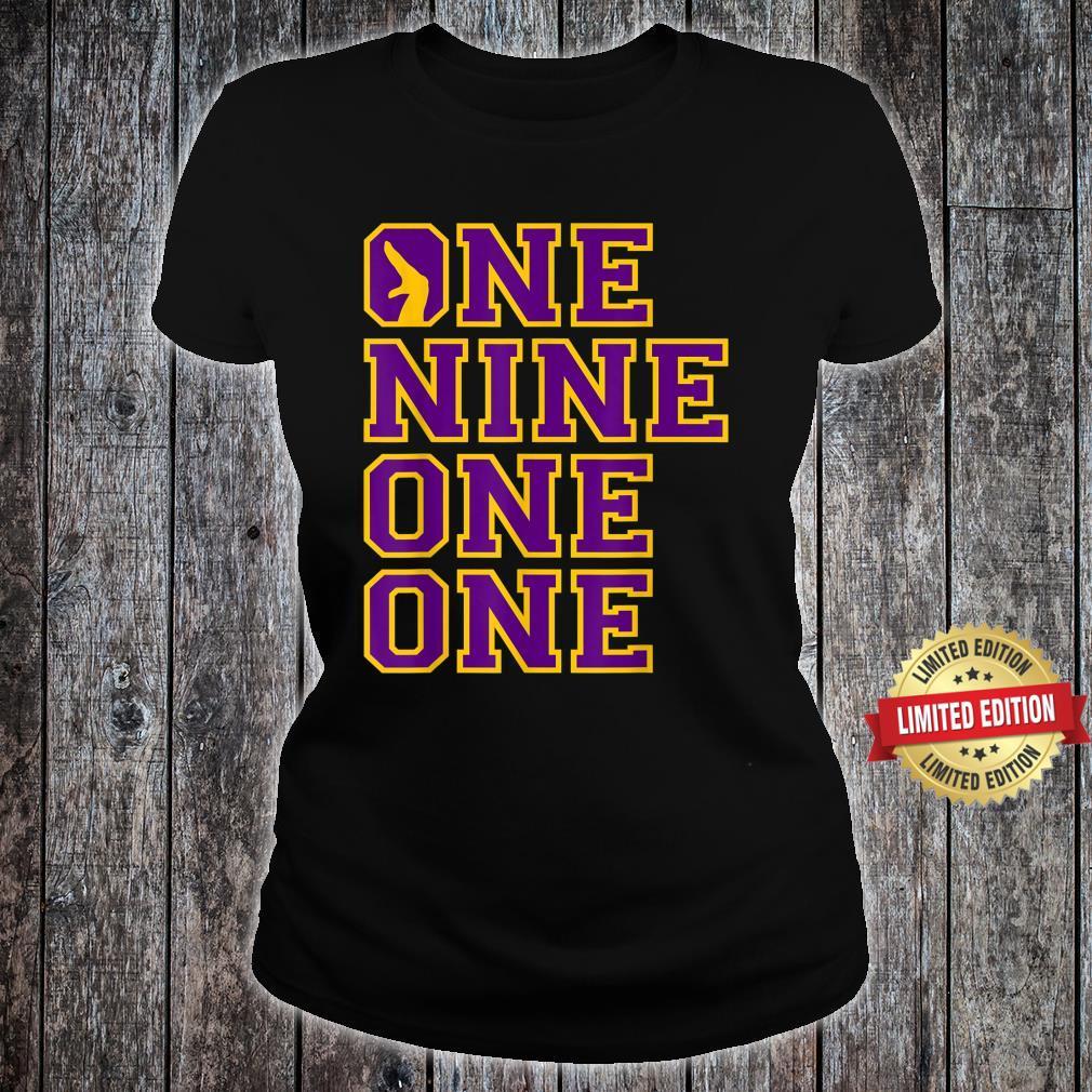 Omega1911 One Nine Hand Sign PsiPhi One One Shirt ladies tee