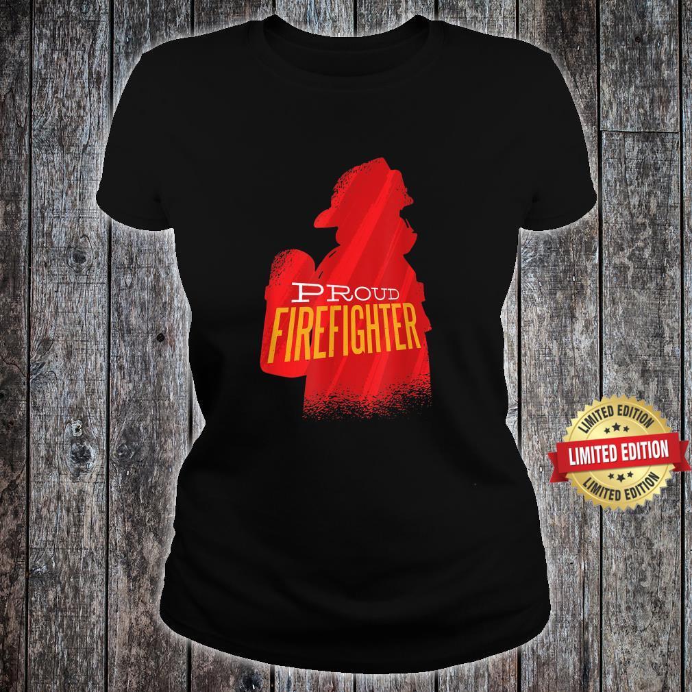 Proud firefighter Retro firefighter Shirt ladies tee