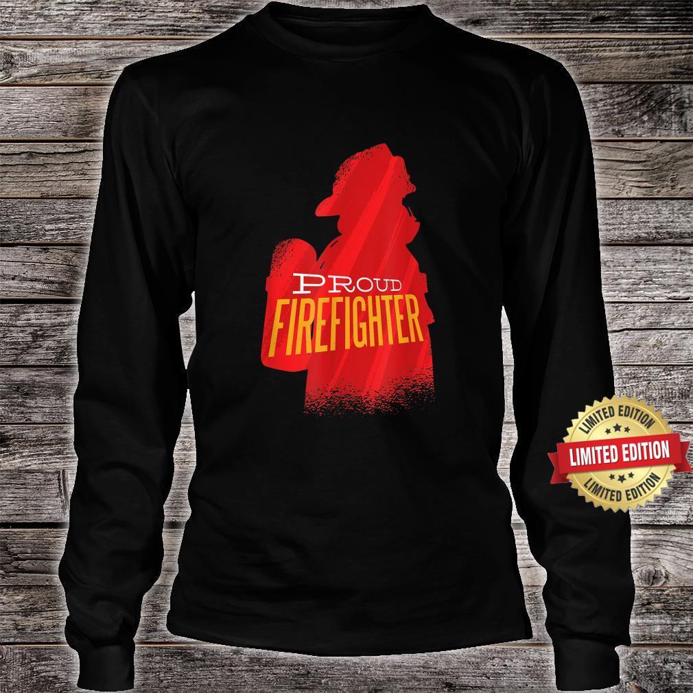 Proud firefighter Retro firefighter Shirt long sleeved