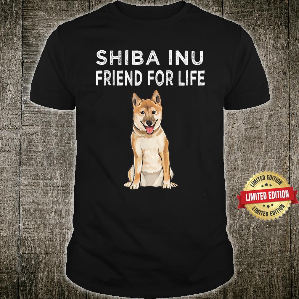 Shiba Inu Friend For Life Dog Friendship Shirt