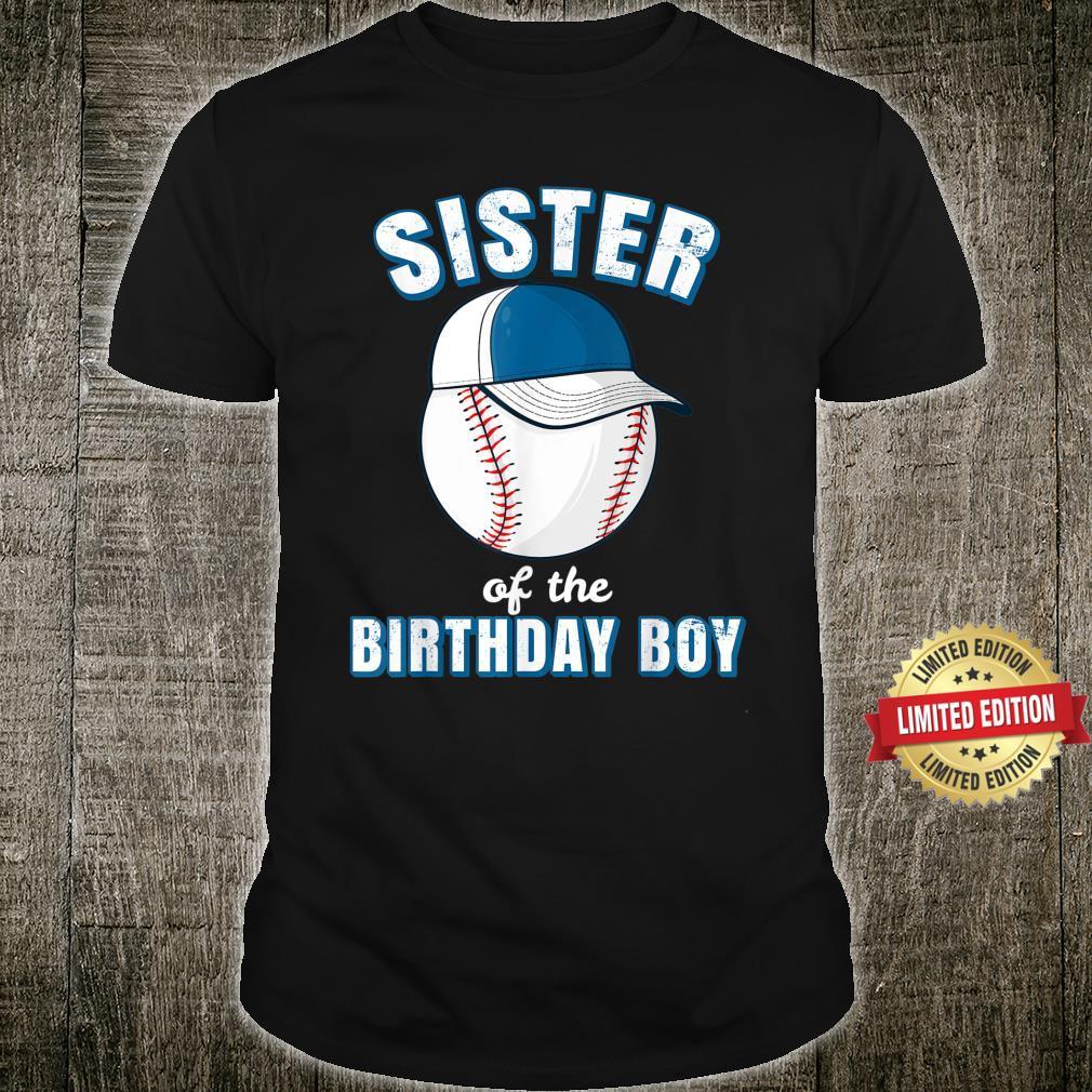 Sister of the Birthday Boy Baseball Player Girls Shirt