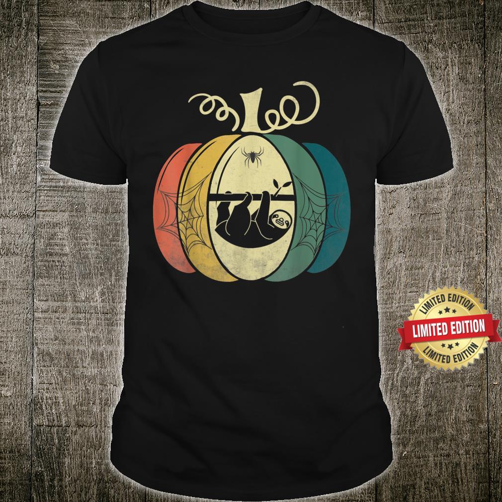 Sloth Pumpkin Shirt Halloween Shirt