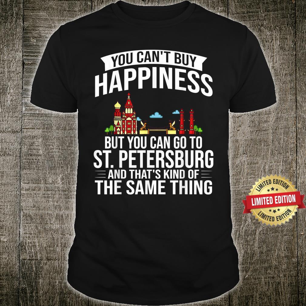 St. Petersburg Russia City Skyline Map Travel Shirt