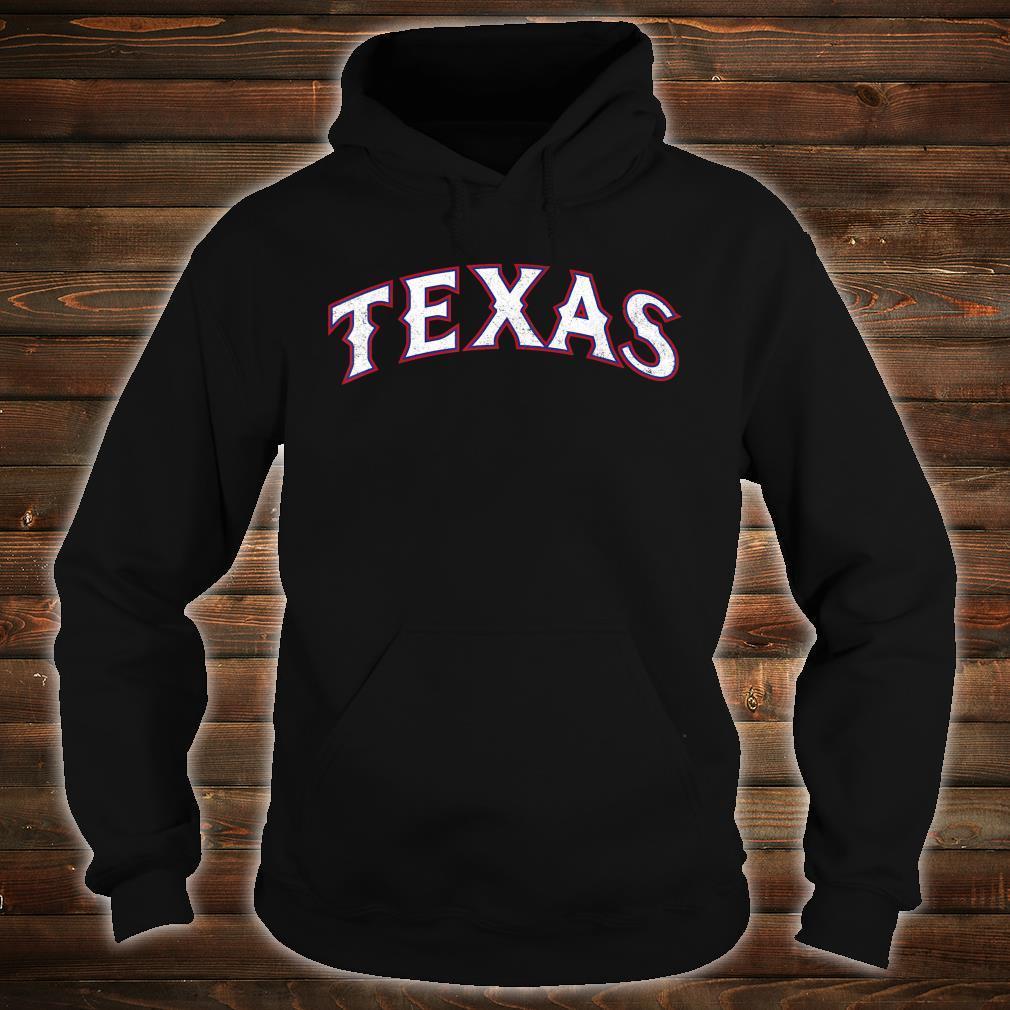 Texas Baseball TX Vintage Distressed Gameday Ranger Shirt hoodie