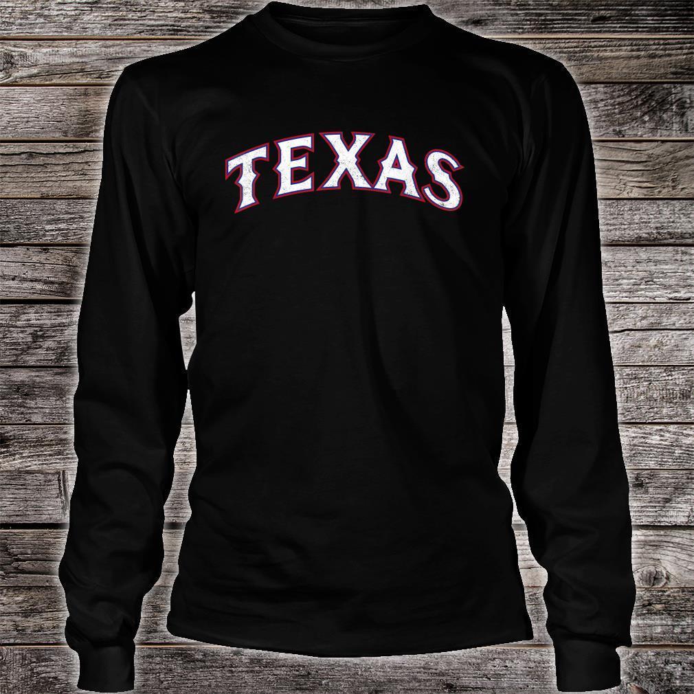 Texas Baseball TX Vintage Distressed Gameday Ranger Shirt long sleeved