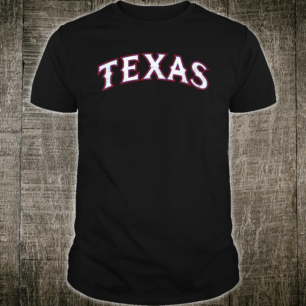 Texas Baseball TX Vintage Distressed Gameday Ranger Shirt