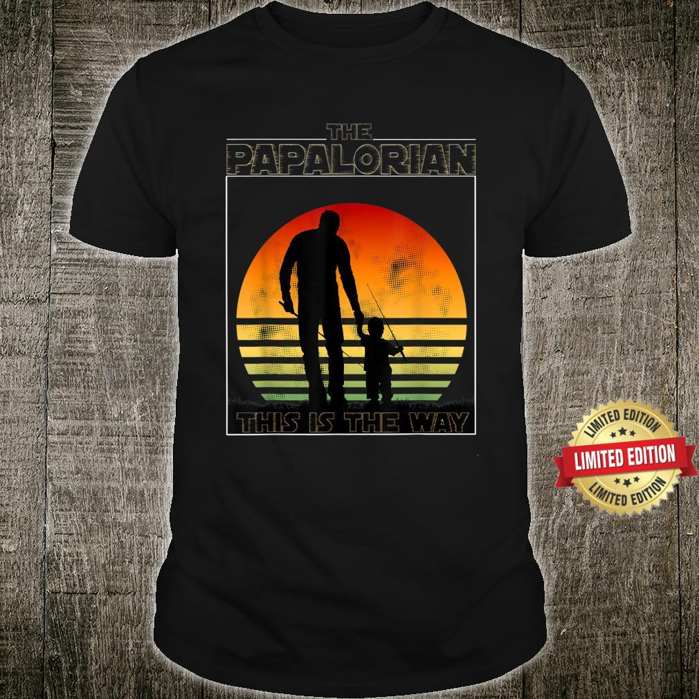 The Papalorian Fathers Day Dad And Son Fishing Shirt