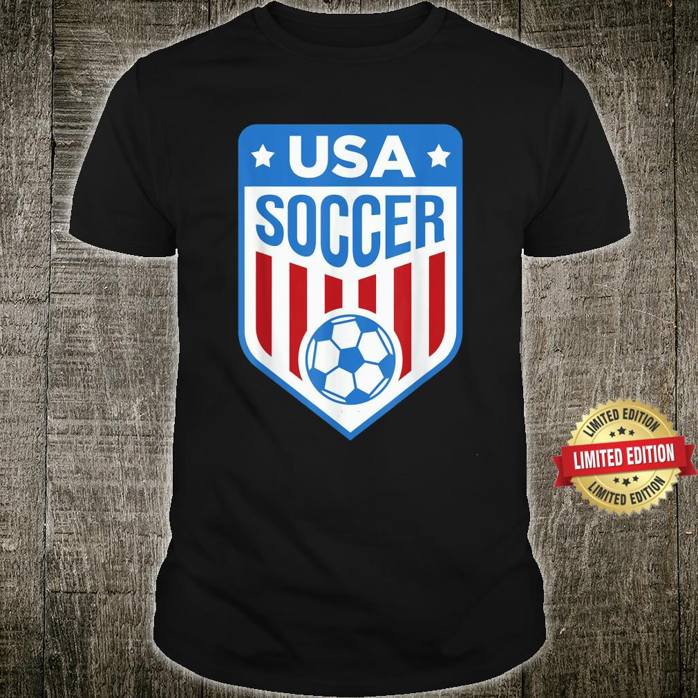 USA Soccer Team Support the Team Shirt USA Flag Football Shirt