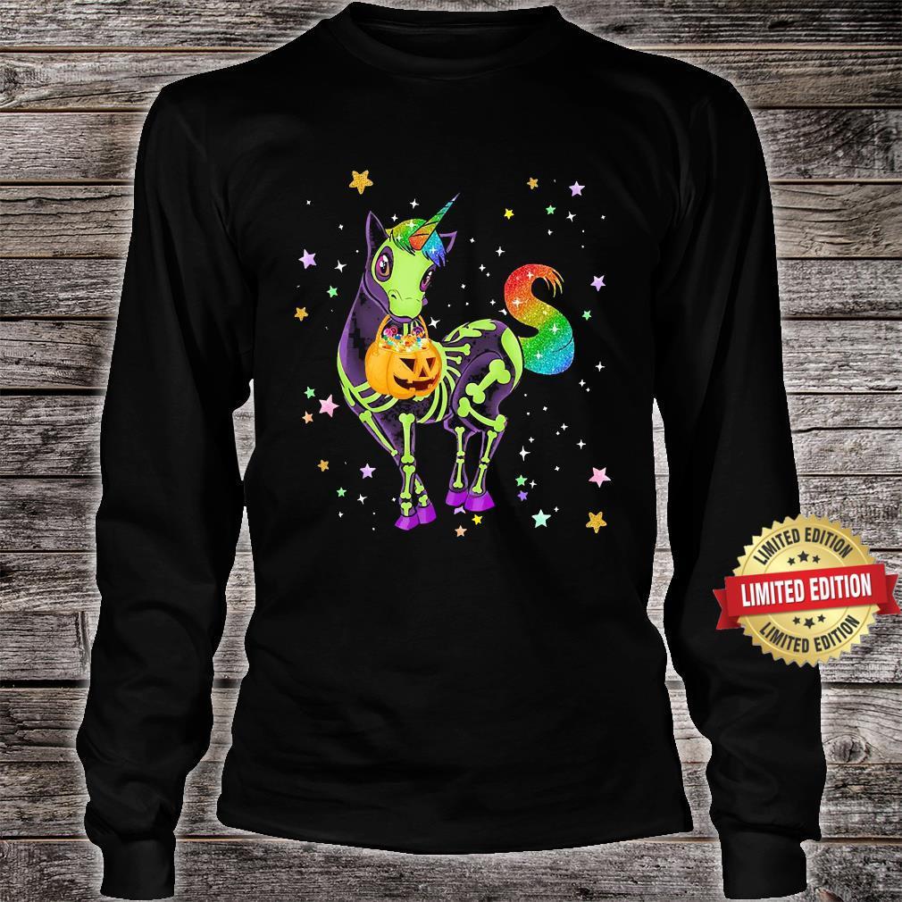 Unicorns Pumkin Halloween Shirt long sleeved