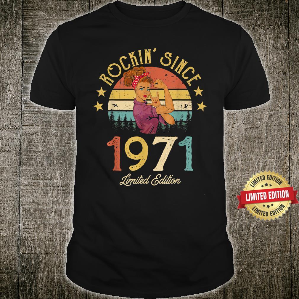 Vintage 1971 Rockin Since 50th Birthday 50 Years Old Shirt