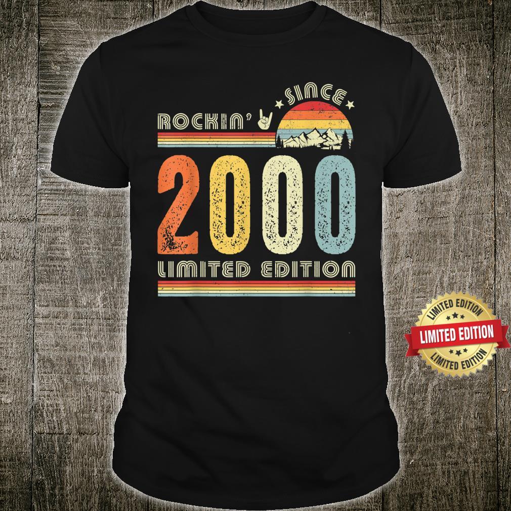 Vintage 2000 Rockin Since 2000 21st Birthday 21 Years Old Shirt