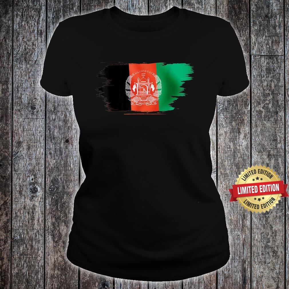 Vintage Afghanistan Afghan Flag United state Support Shirt ladies tee